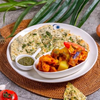 MAMAK檔 囊爐烤餅 印度咖哩蔬菜